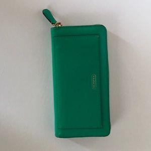 Coach zip wallet sea green-bundle with handbag $80